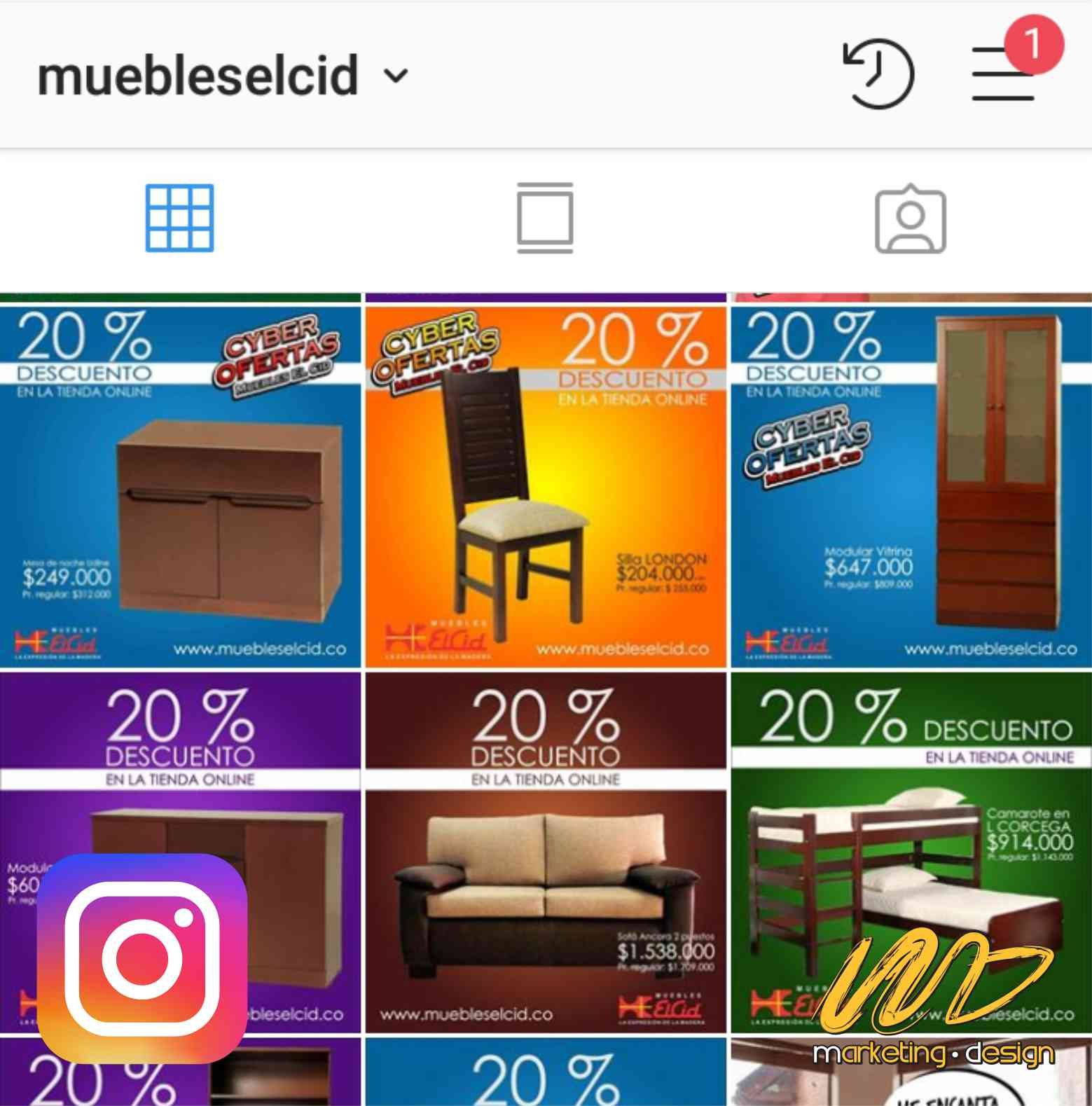 Clientes Instagram Marketing Design 1902