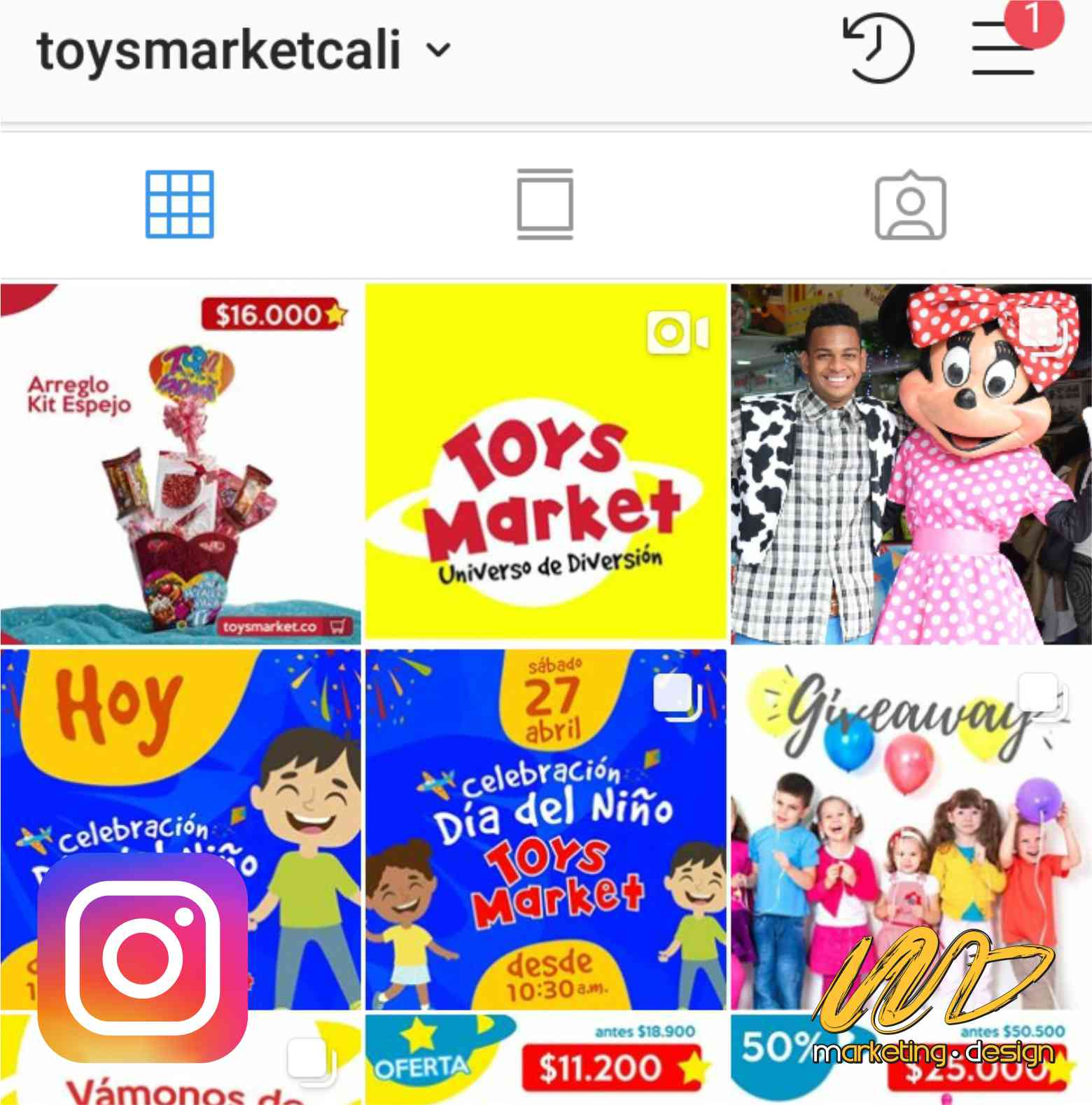 Clientes Instagram Marketing Design 1903
