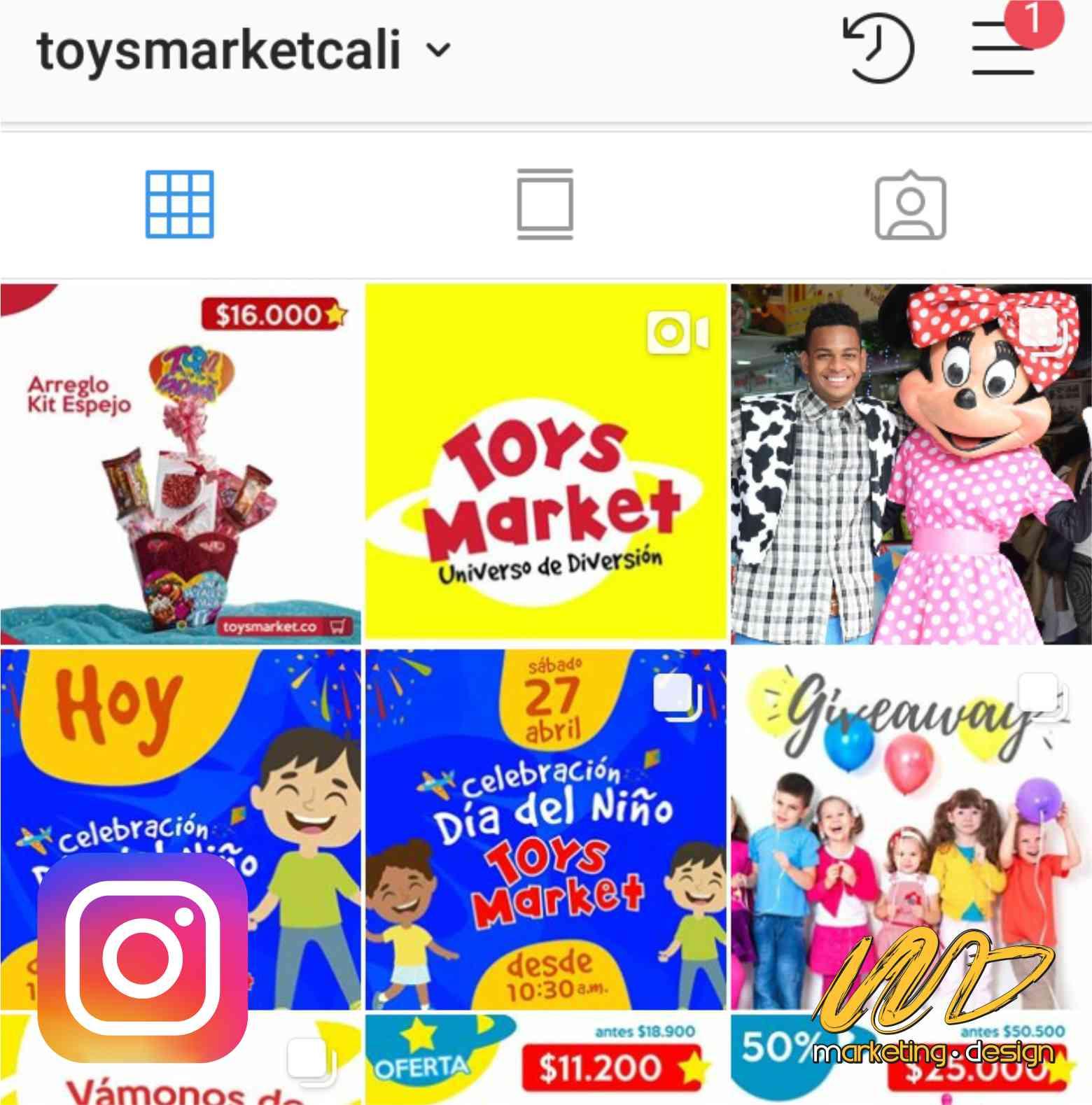 Clientes Instagram Marketing Design 1903