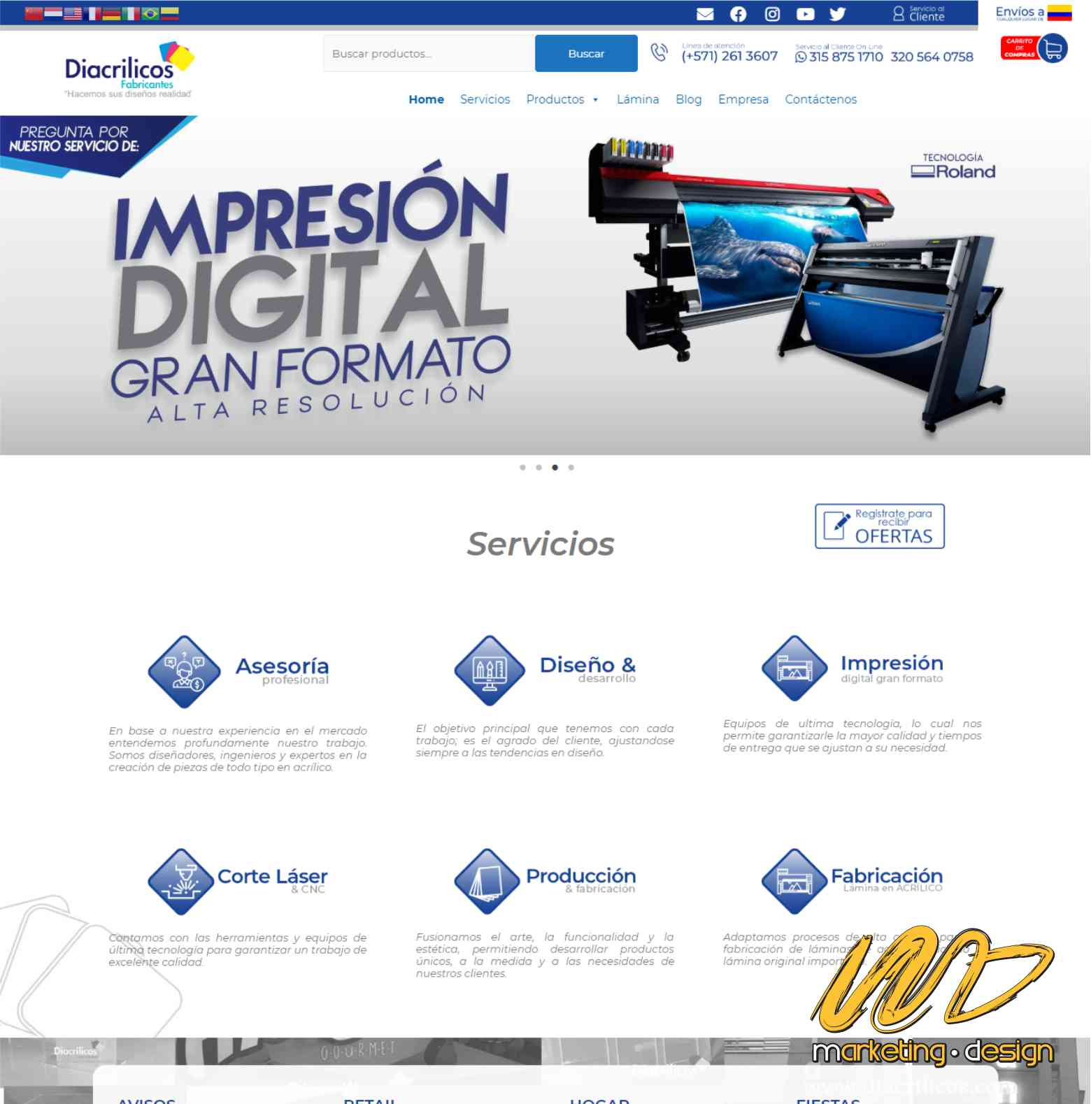 Sitios Web Marketing Design 1904
