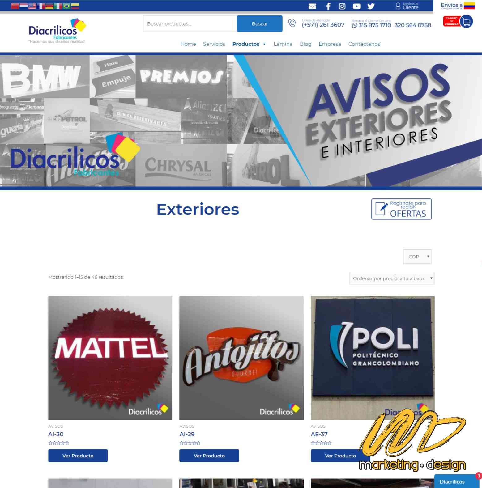 Sitios Web Marketing Design 1905