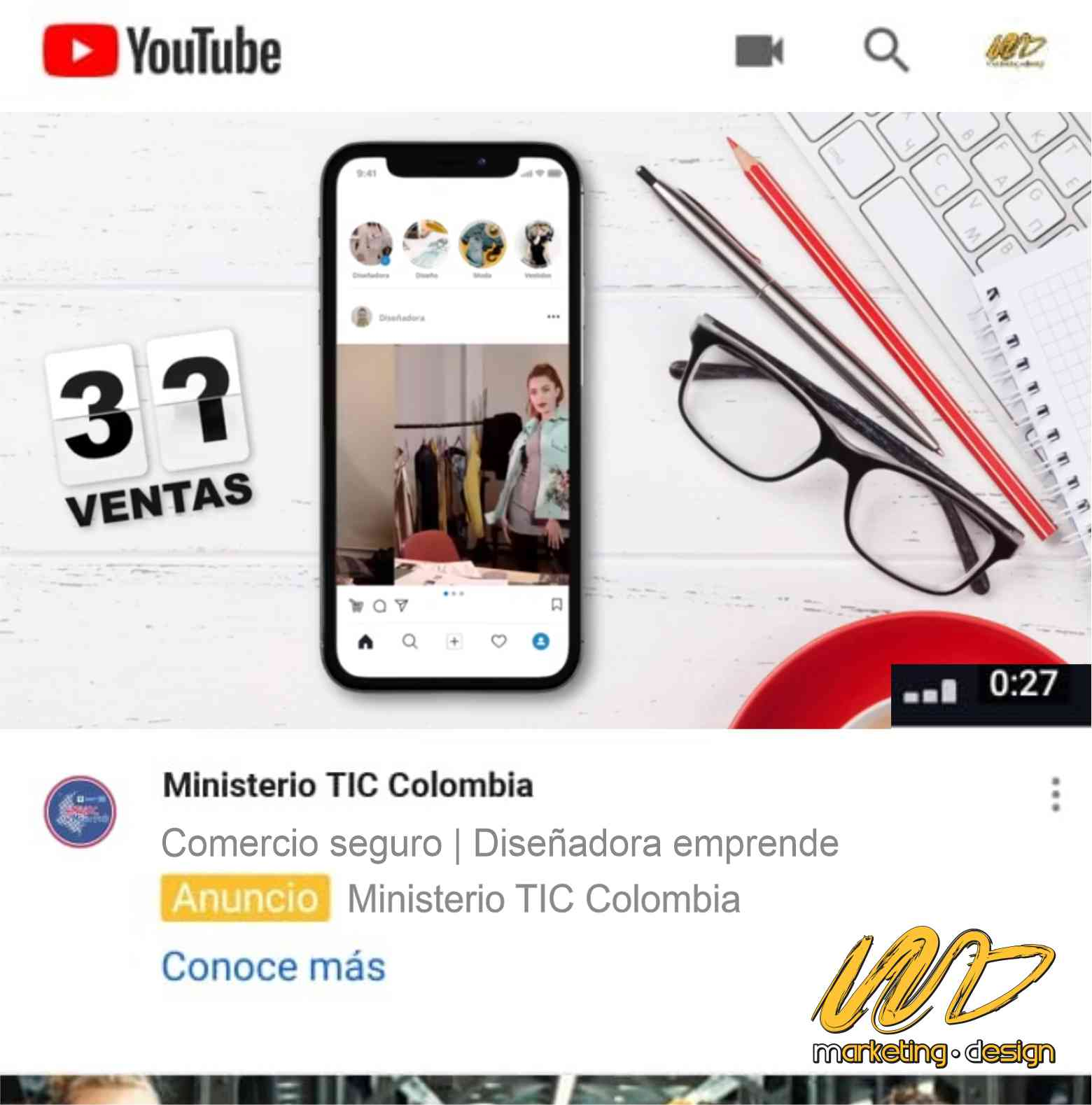 Clientes Pauta YouTube Marketing Design 1903